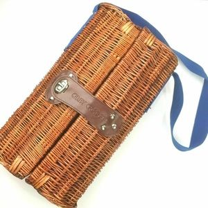 Grey Goose Woven Wicker Basket Picnic Case